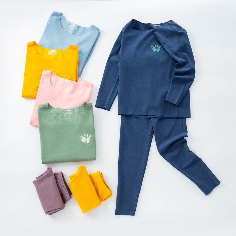 High technology Thermal Underwear Children clothing sets Seamless Underwear For Boys girls clothing