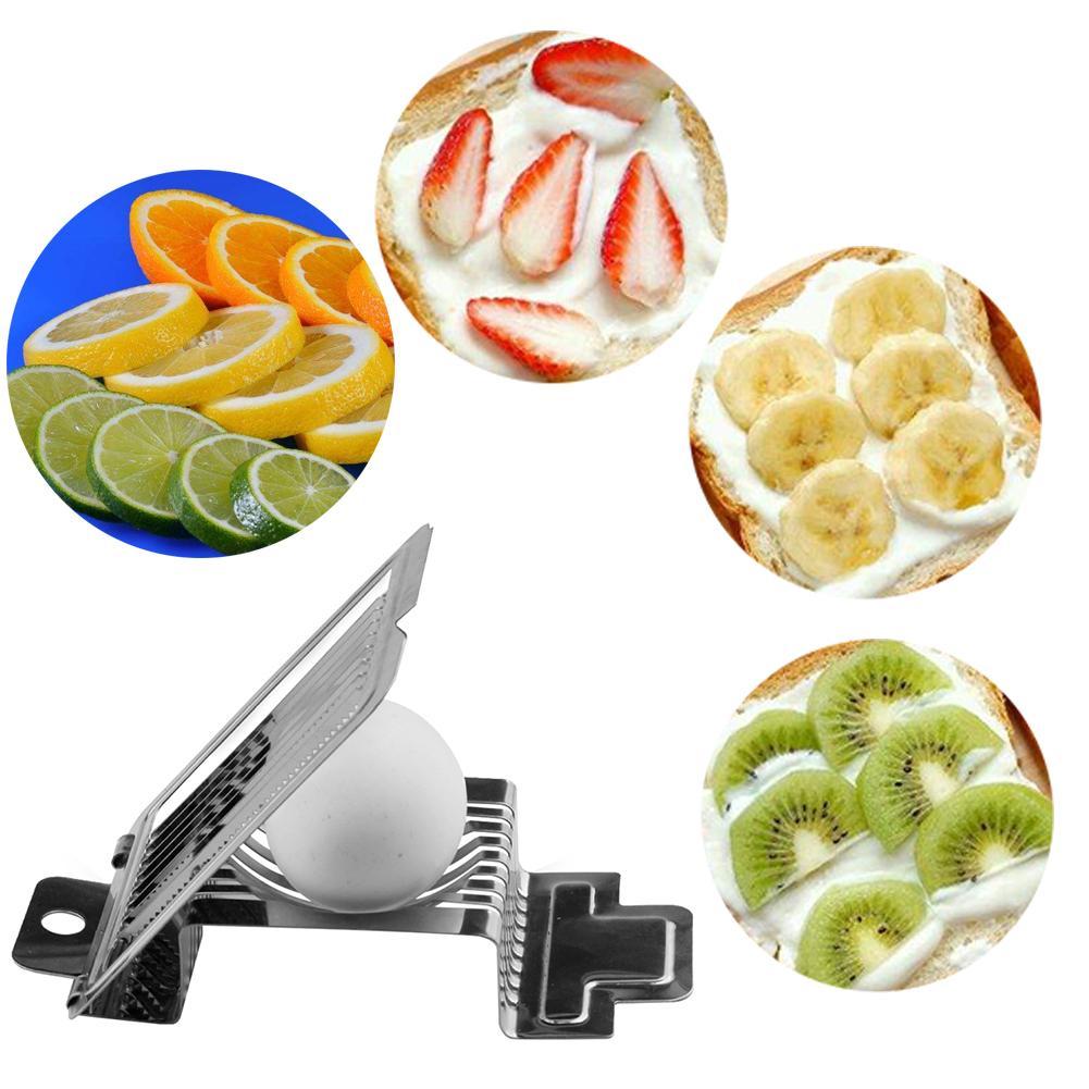 Gran oferta de utensilios de cocina, rebanador de cocina para huevos multifunción, cortador, molde, bordes de flores, seta