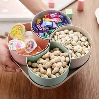 kitchen plastic fruit shape snack trays box seeds nuts dried fruit storageorganize gagets tools table decoration plate gaget