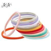 jojo bows 7575mm 10pcs nylon band for diy craft supplies light color soft towel ring for hair accessories wrapping materials