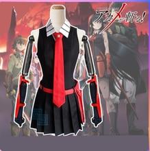 Anime de haute qualité Akame ga tuer! Akame hommes femmes Cool Costume uniforme Cosplay Costume robe + chemise + cravate