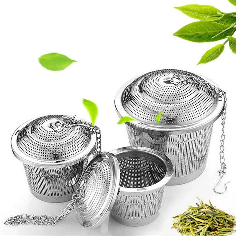 304 الفولاذ المقاوم للصدأ الشاي الكرة مصفاة شبكة العشبية Infuser تصفية أوراق الشاي التوابل مصفاة شاي لأداة المطبخ إبريق الشاي