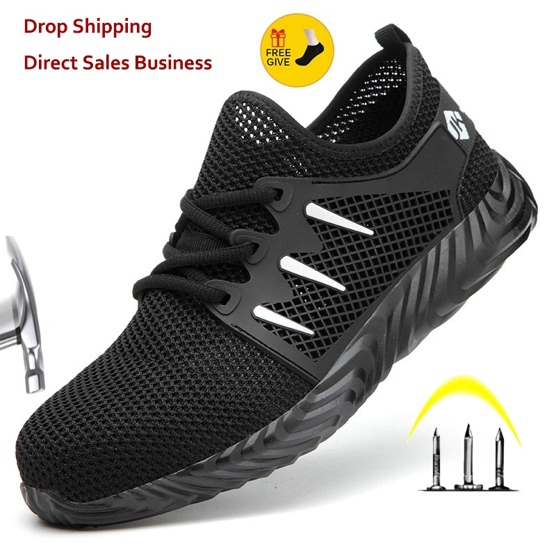 XPUHGM Indestructible Shoes Men Safety Work Shoes with Steel Toe Cap Puncture-Proof Boots Women Ligh