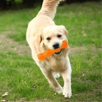dog chew bone toy bite resistant durable tough rubber non toxic tooth cleaning toy for aggressive chewer floating toy