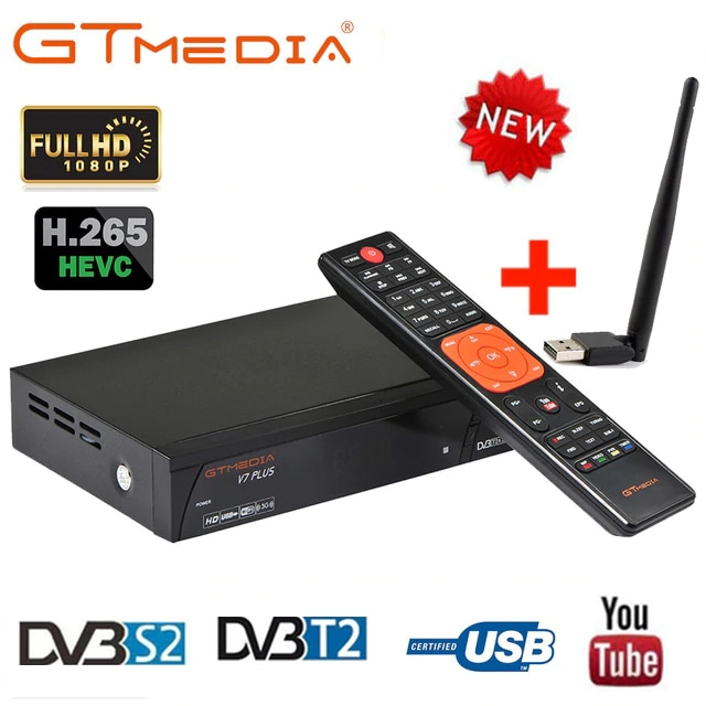 1080P HD DVB-S2 GTmedia V7 برو V7 زائد الفضائيات استقبال dvb-t/T2 الطاقة بواسطة انمي V8 سوبر دعم PowerVu البس مفتاح