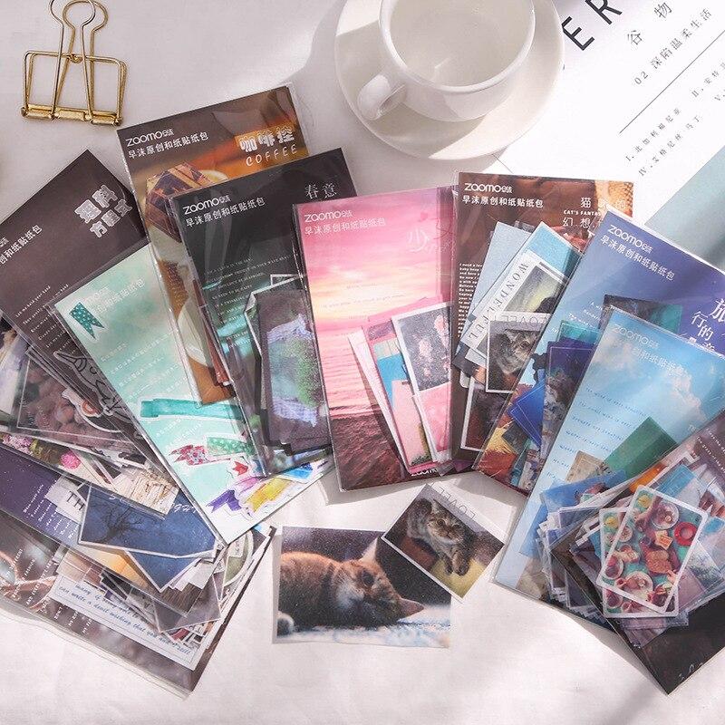 40 unidades/pacote viagem bala diário washi adesivos decorativos papelaria selagem adesivo scrapbooking diy diário álbum vara etiqueta