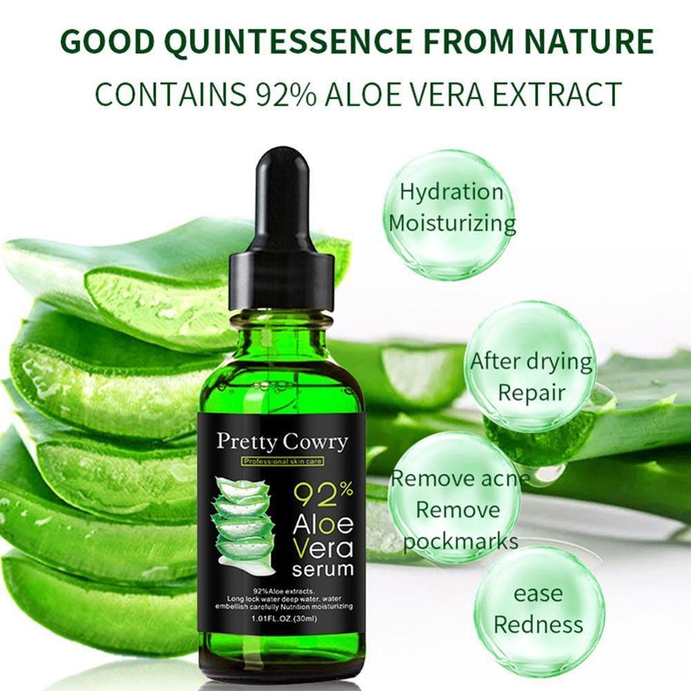 New 2021 Aloe Vera Serum Acne Scar Removal Essence Serum Acne Spots Skin Care Treatment Whitening Remove Acne Face Care 30ML недорого
