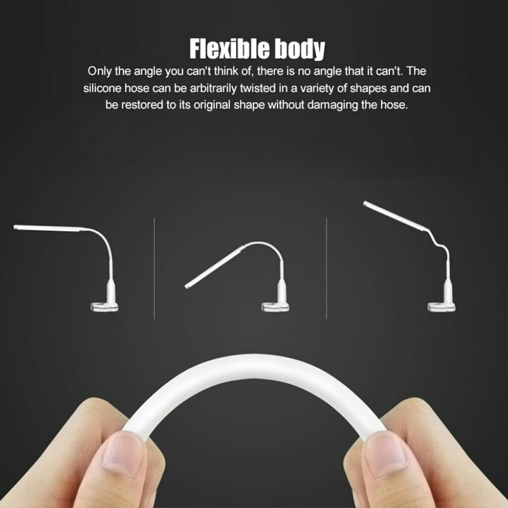 LED Flexible USB Touching Desk Lamp with Dimmable Clip for Study Reading Night Light DQ-Drop