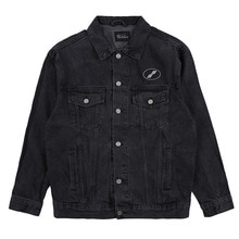 We11done denim white coat trendy basic simple loose solid color washed denim jacket for men and wome