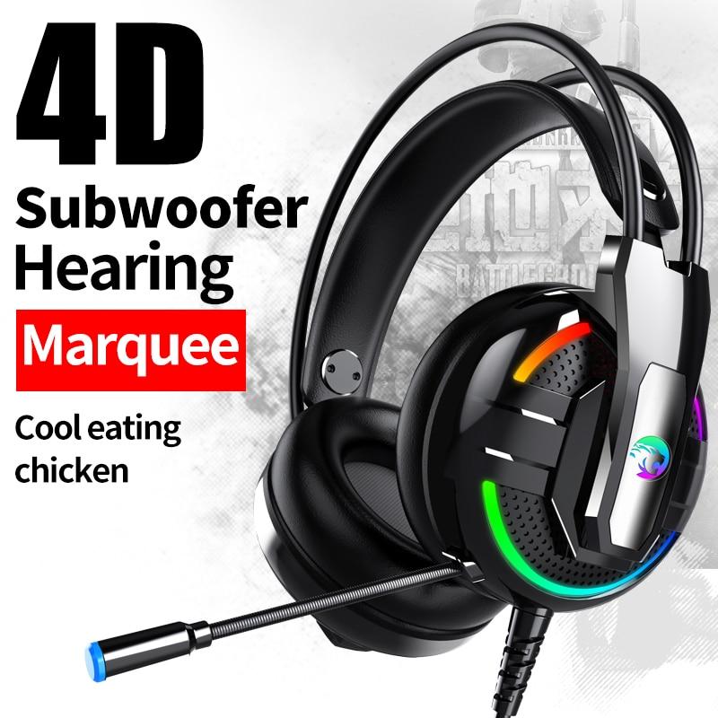 RGB lightning Gaming headset Earphone Gamer Headphone Helmets For Pubg PS4 CSGO Casque Games Xbox one PC