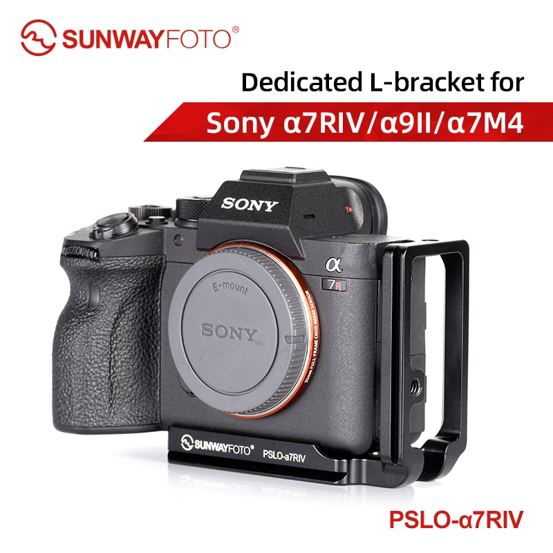 SUNWAYFOTO PSLO-A7RIV سريعة الإصدار خماسي لل a7RIV a7R4 a7M4 a9II Dslr كاميرا ل ترايبود رئيس L قوس