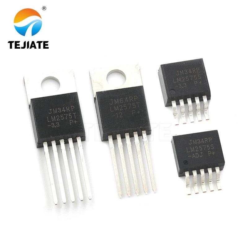 5 pces LM2575T-3.3/5.0/12 v/adj to-220-5 LM2575S-3.3/5.0/12 v/adj TO263-5 lvoltage chip estabilizador