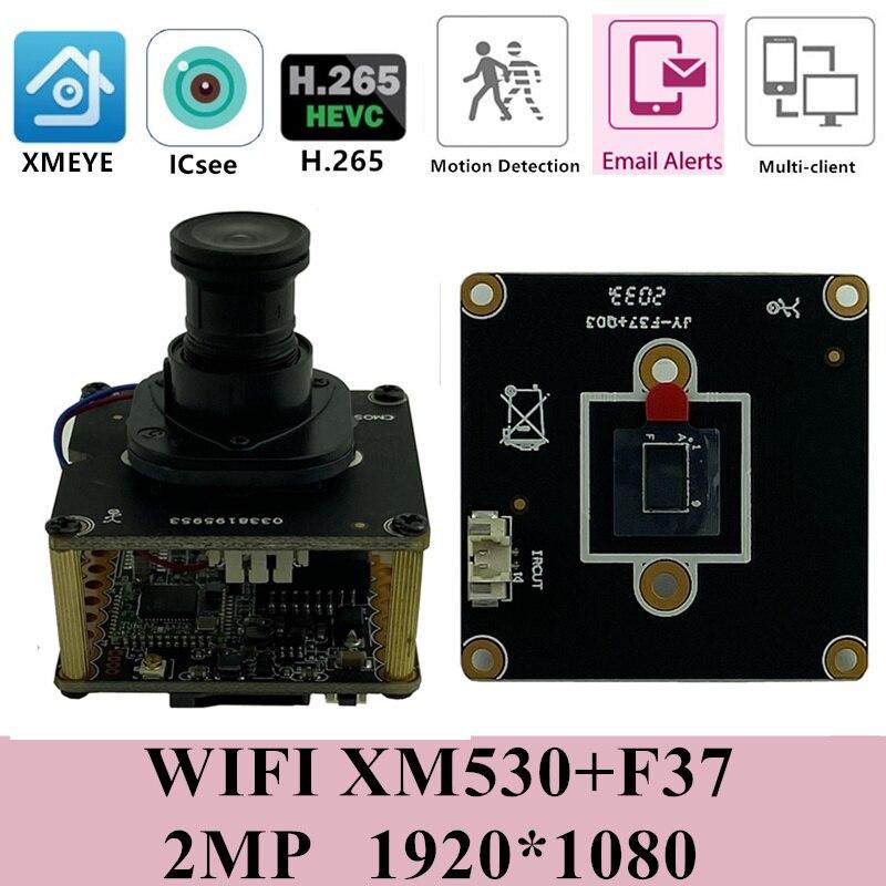 Carte de Module de caméra sans fil IP WIFI M12 objectif IRC XM530 + F37 1920*1080 25FPS Audio bidirectionnel 8-128G carte SD P2P CMS XMEYE RTSP