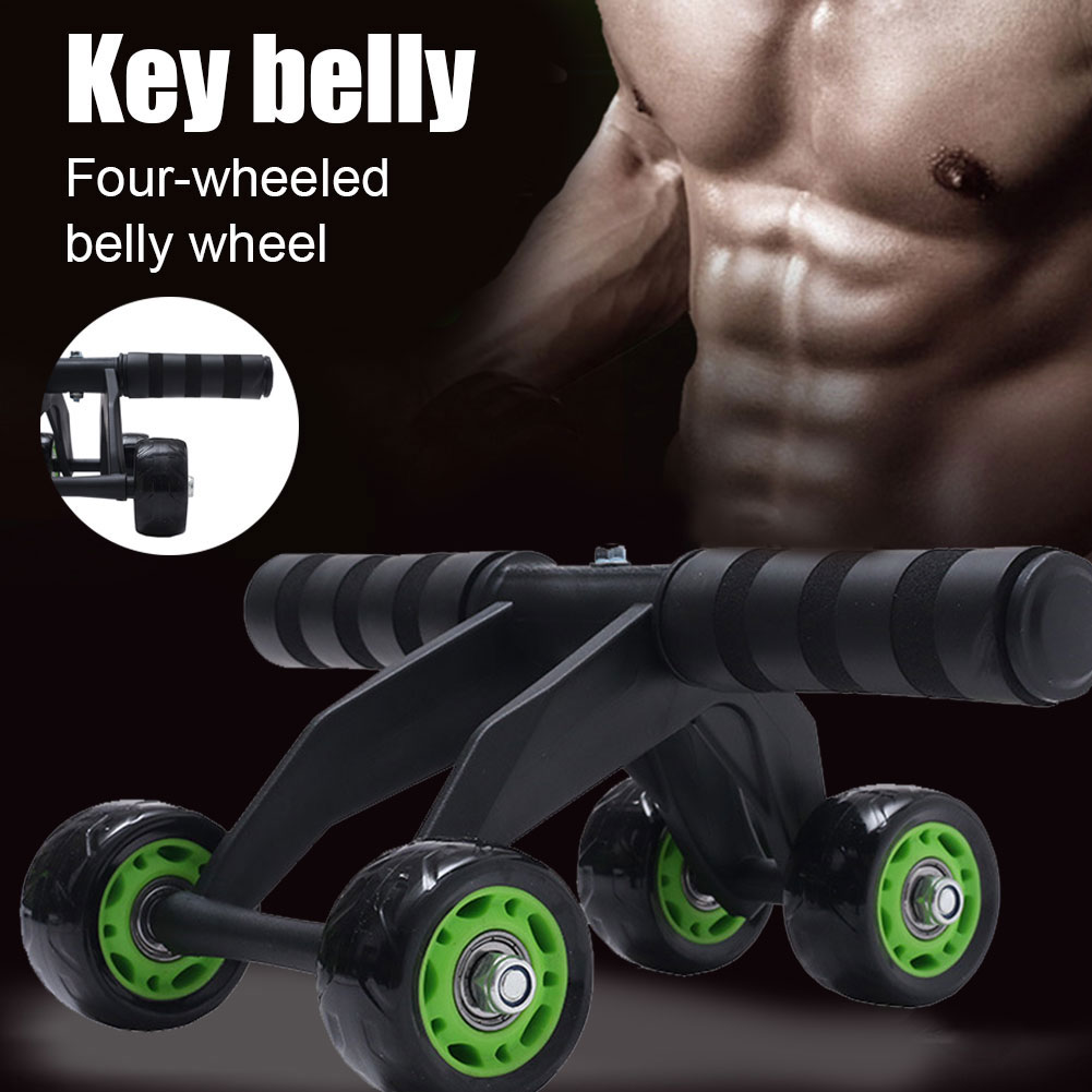 롤러 휠 운동 휘트니스 장비 4 바퀴 복부 운동 배꼽 트레이너 N66