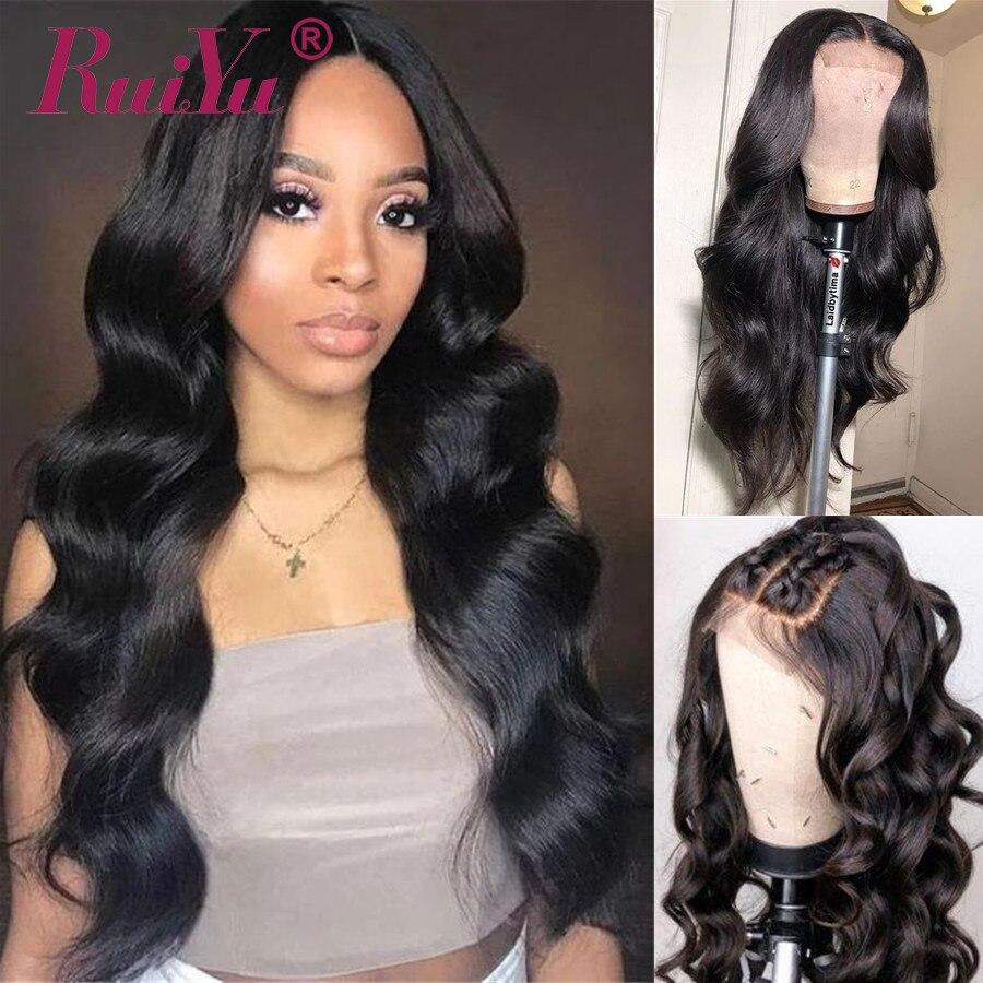 Cuerpo Wave 4x4 Peluca de cierre 5x5 pelucas de cabello humano peluca con malla frontal 150% densidad RUIYU pelo brasileño Remy pelucas
