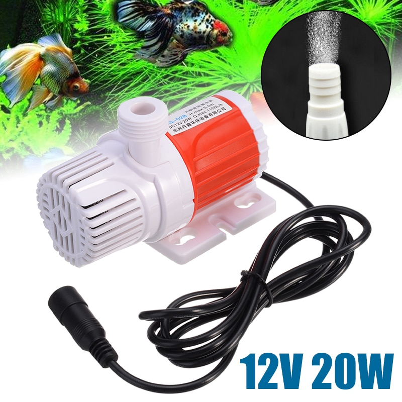 Bomba de agua sumergible de eficiencia energética 12V 20W bomba de agua portátil de energía Solar bomba de fuente estanque de jardín piscina