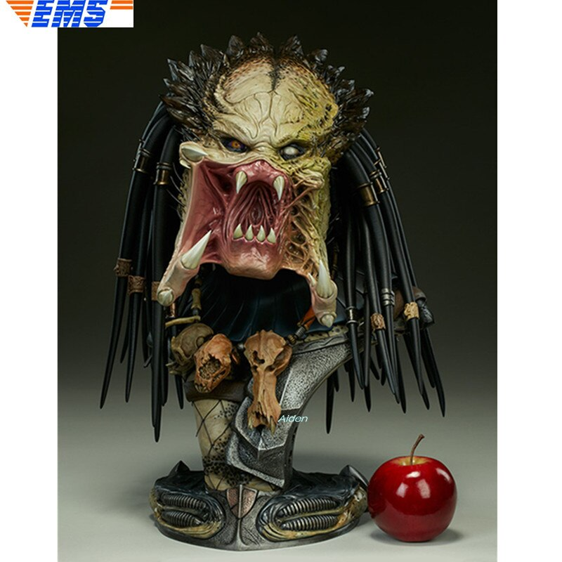 "18 ""SS 200250 estatua depredador Wolf busto Aliens vs depredador-Requiem retrato de cabeza 1/2 resina de acción modelo de juguete caja de 46CM Z2206"