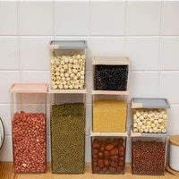food storage container flip cover grain storage box kitchen food bean rice sealed storage tank dry cargo can