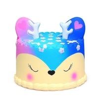 Джамбо кавайный торт Сжимаемый Галактический олень Сжимаемый крем ароматизированный медленно поднимающийся ребенок игрушка телефон реме...