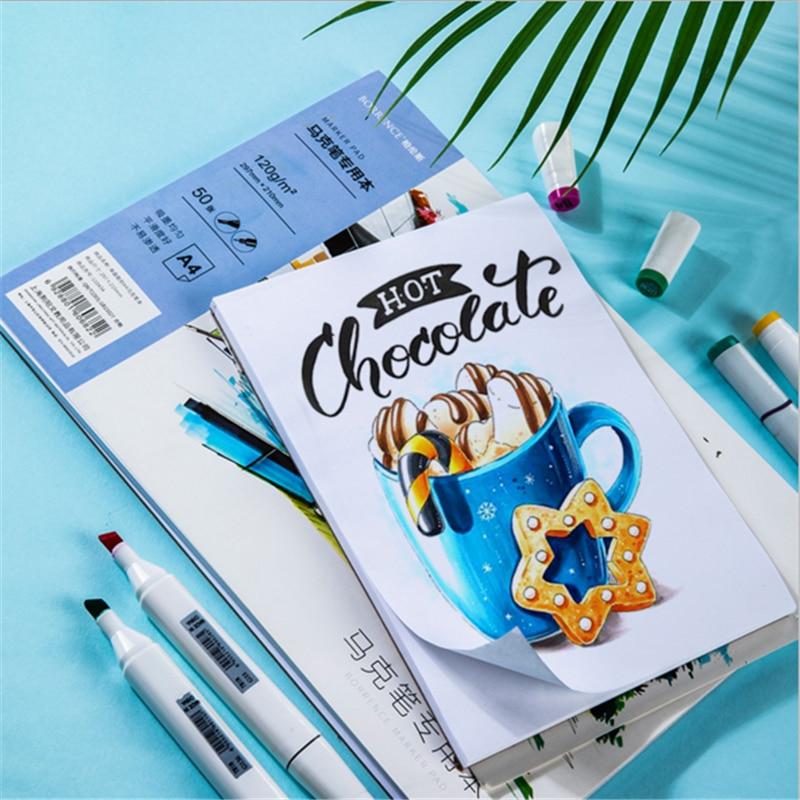 Оценочная маркер для белой доски Бумага профессиональные акварельные Бумага 50 страниц ручной рисунок граффити книга для художника студент...