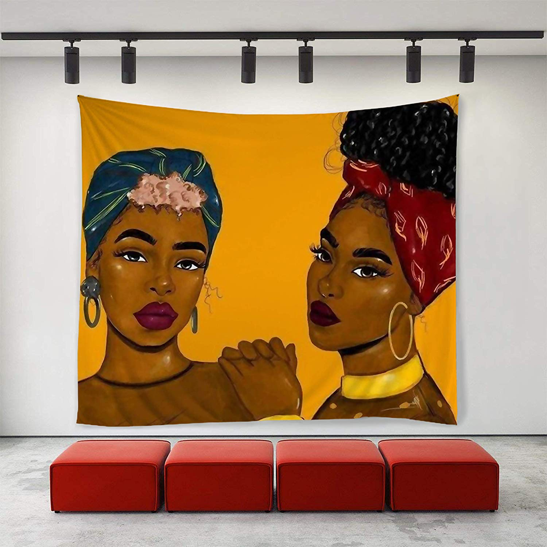 Tapices para Mujeres Afro Americanas arte único decoración del hogar