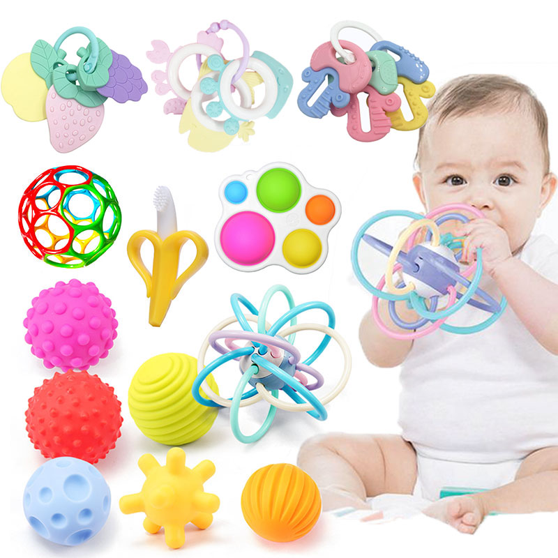 Educational Toys For Babies Newborn Baby Toys 0 12 Months Crib Rattle Toys Teethers For Baby Rattles Montessori Baby Games Toys