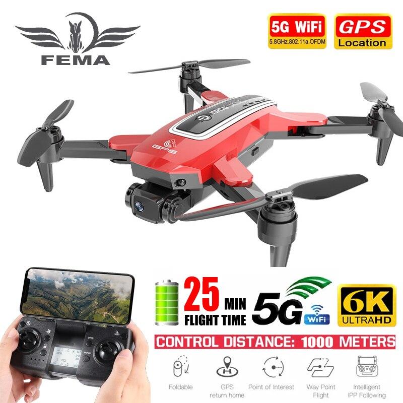 FEMA S4 Camera Drone GPS 4K Professional pro 6K HD 5G FPV Long Distance Brushless RC Quadcopter Dron PK L900 SG108