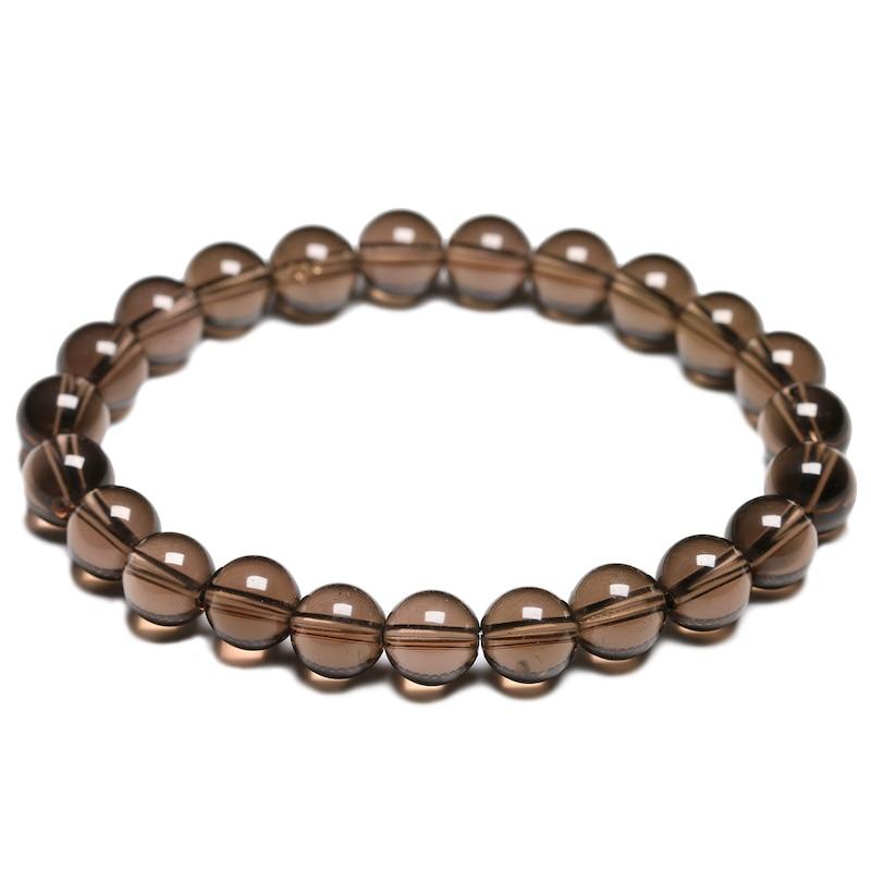Natural Quality Grade A Smoky Quartz Bracelets Women Fine Gemstone Bracelet Men Crystal Yoga Meditation Jewelry
