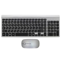 russian english characters ultra thin business wireless russian keyboard and mouse combo low noise mice for office