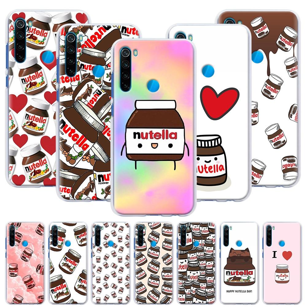 Carcasa rígida Kawaii nutella, funda de teléfono para Xiaomi Redmi Note 6 7 8 8T 9S 9 Pro K30 K20 Pro 6A 7A 8A