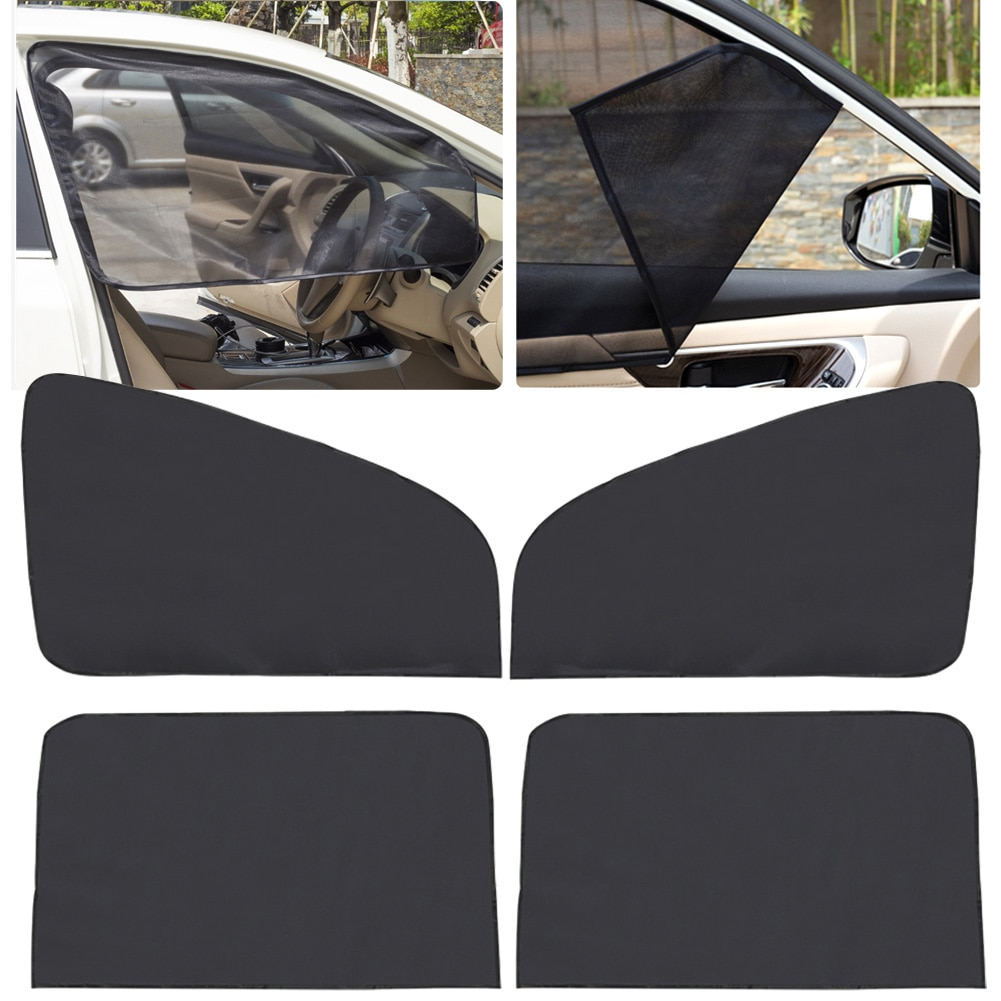 4 Pcs Car Magnetic Front & Rear Side Window Sun Visor Shade Mesh Cover Sunshade Curtain Accessories Dropshipping