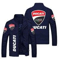 Весенне-осенняя модная мужская куртка с логотипом автомобиля, свитер DUCATI, повседневная спортивная куртка с принтом, Высококачественная Муж...