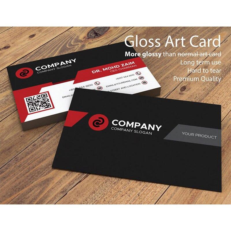 FreePrinting-Lote de tarjetas de negocios, pegatinas personalizadas, tarjetas VIP, 100/200/500/1000 Uds., envío gratis