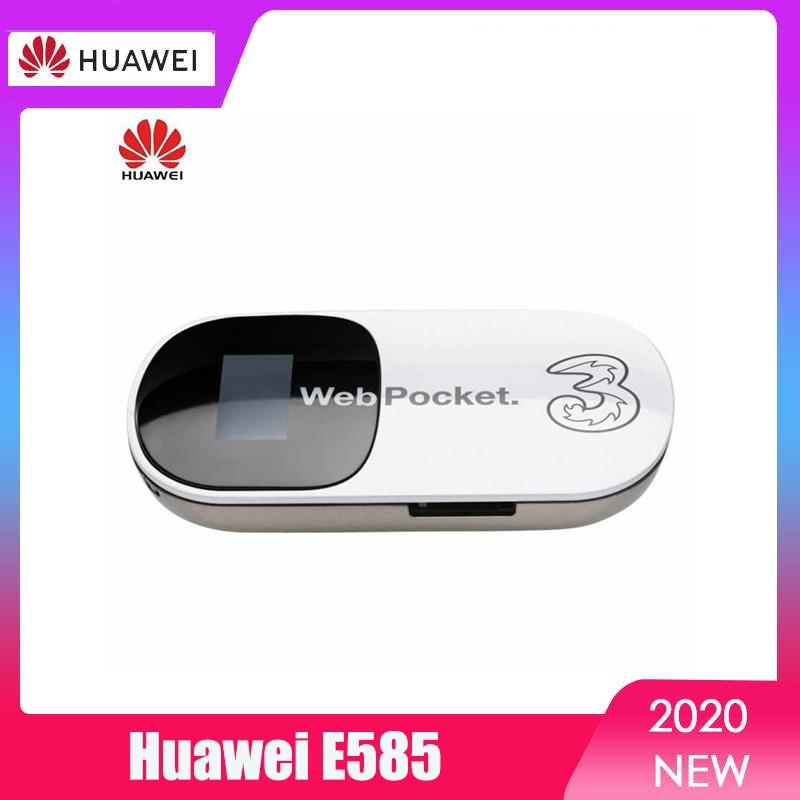 tianjie 3g 4g mifi router high speed unlock wifi lmodem gsm umts wcdma lte fdd tdd sim card slot carfi pocket hotspot universal Unlocked Huawei E585 3G Router Mobile Hotspot Pocket MiFi Wireless Car WiFi Modem with SIM Card Slot