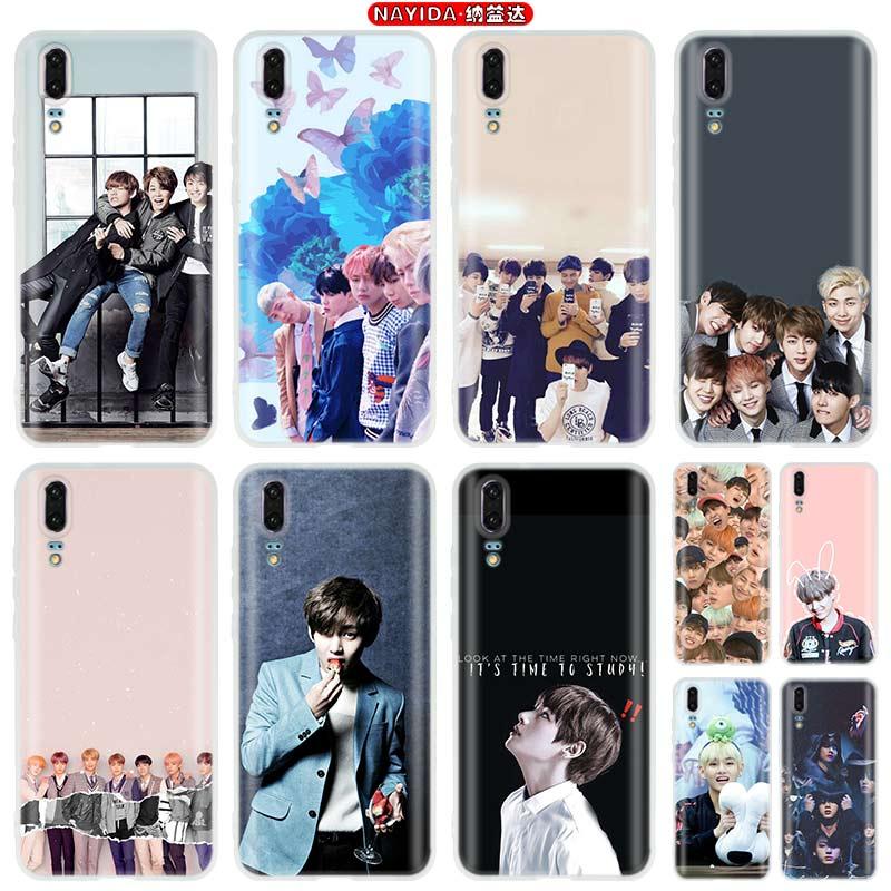 Phone Case For Huawei P40 P10 P20 P30 Lite Plus Pro P8 P9 Lite P Smart Z 2019 Cover Star Kpop Bangtan Boys Shell