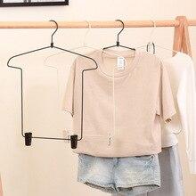 4 pièces ensemble de vêtements en métal cintre pantalon et haut ménage cintre Clip intégré vêtements suspendus costume magasin de vêtements magasin Hange
