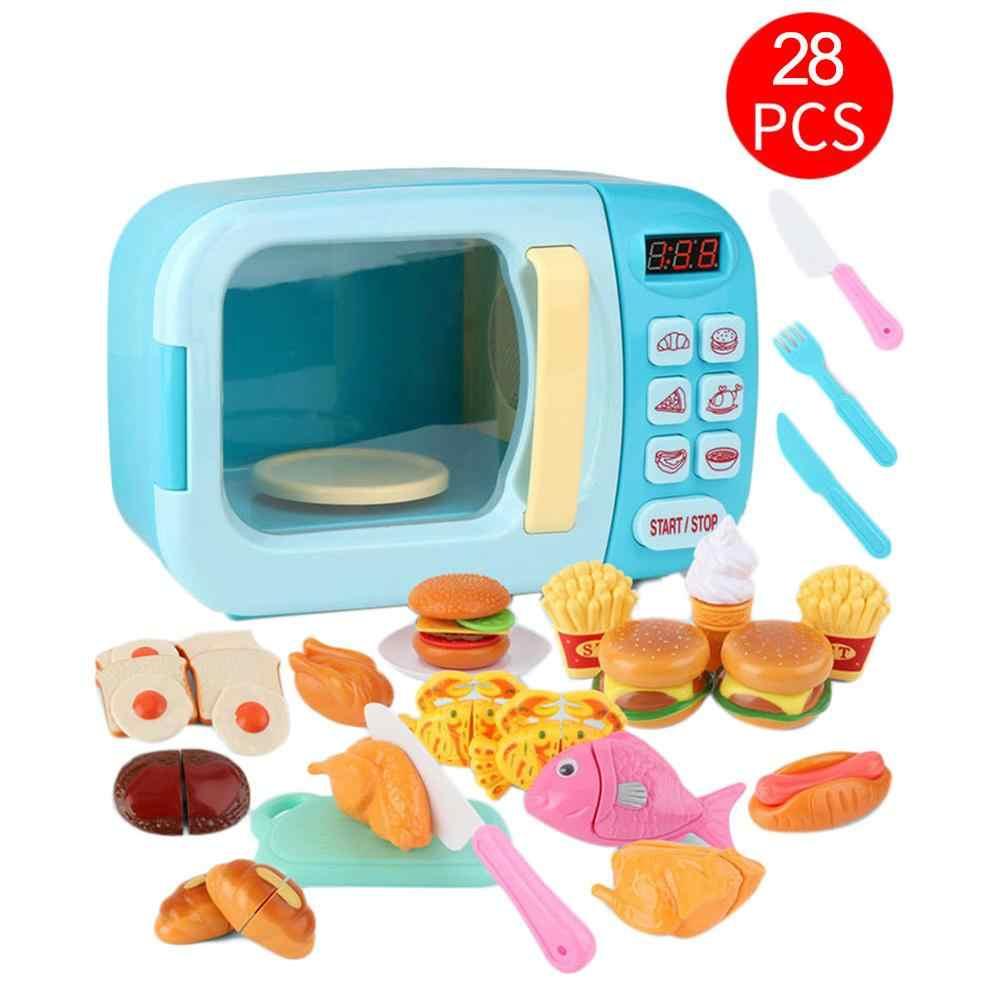 Horno Microondas De Juguete Para Niños Juego De Cocina Para Bebés Simulación De Temporizador Eléctrico Utensilios De Cocina Manualidades Juguetes De Cocina Aliexpress