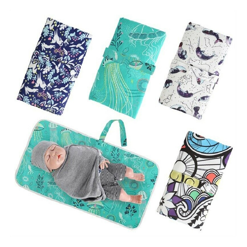 Diaper Foldable Washable Nappy Changing Pads Cover Portable Newborn Baby Change Sheet Floor Infant Mat Girls Boys Tapete