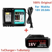 18v 20 0ah rechargeable battery 20000mah liion battery replacement power tool battery for makita bl1860 bl18303a charger