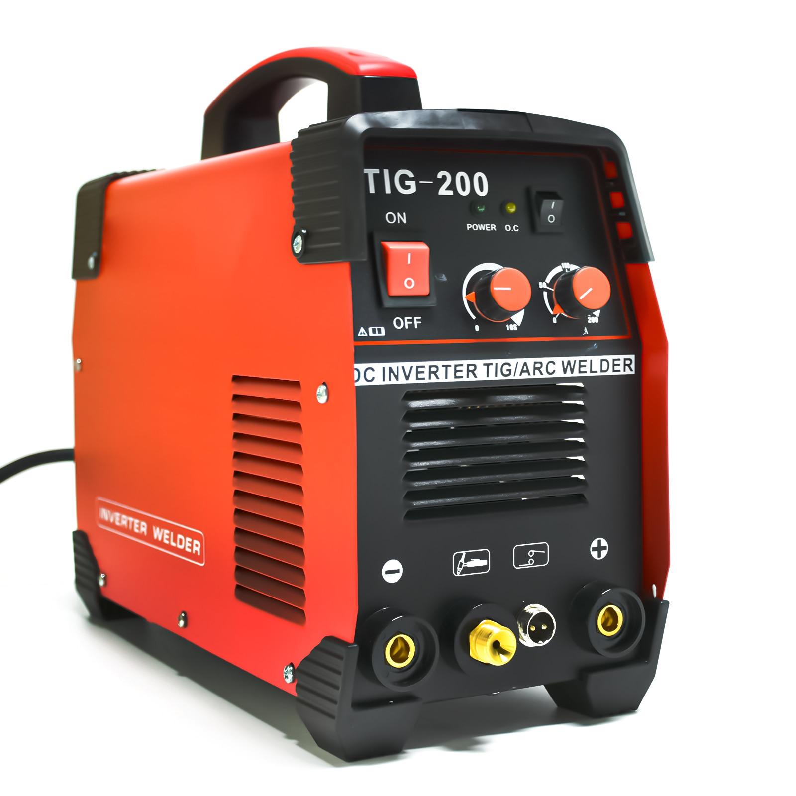 TIG Welder 200Amp Gas Equipment Mini Portable Inverter pulse Machine Welding Soldering IGBT Spot Welder MMA Inverter