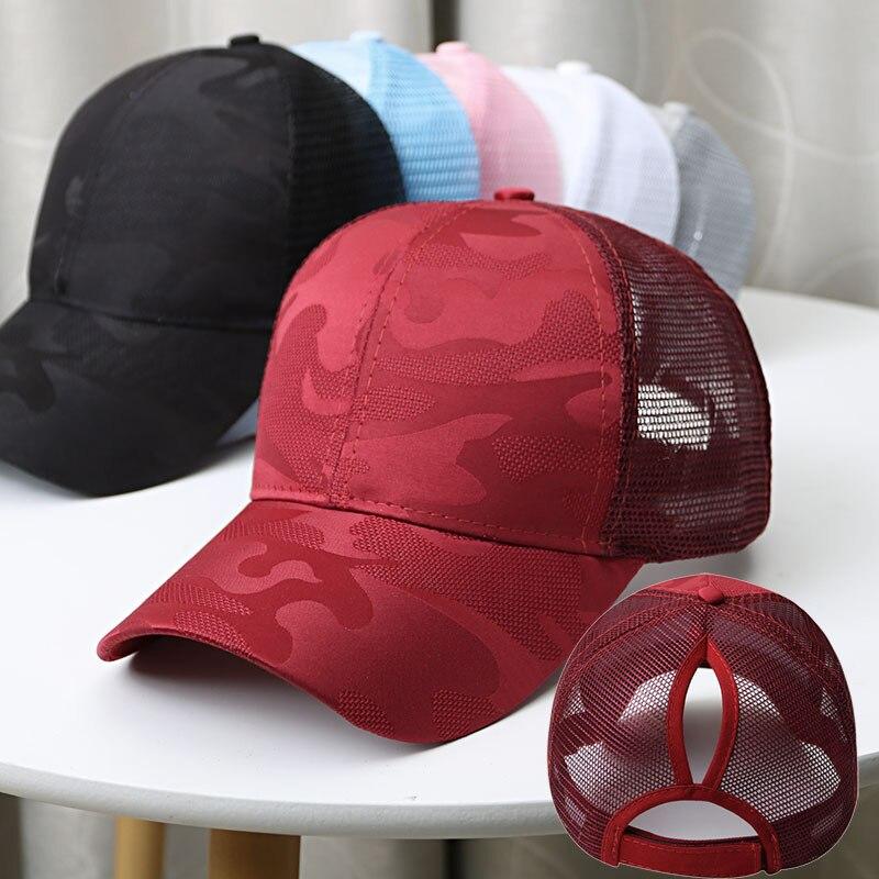 Бейсболка с конским хвостом, Солнцезащитная шляпа для женщин, бейсболка в стиле хип-хоп, бейсболка, женская летняя кепка, сетчатая уличная шапка