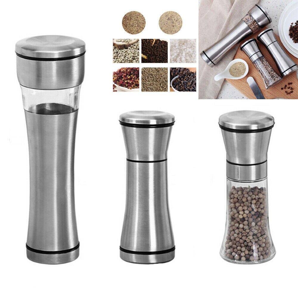 Molinillo Eléctrico Manual de acero inoxidable para pimienta, molinillo de especias, utensilios...