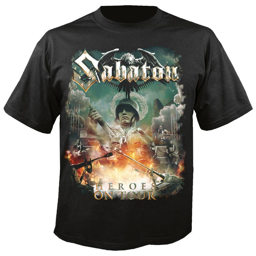 Camiseta oficial con licencia de Sabaton Heroes On Tour Metal sueco