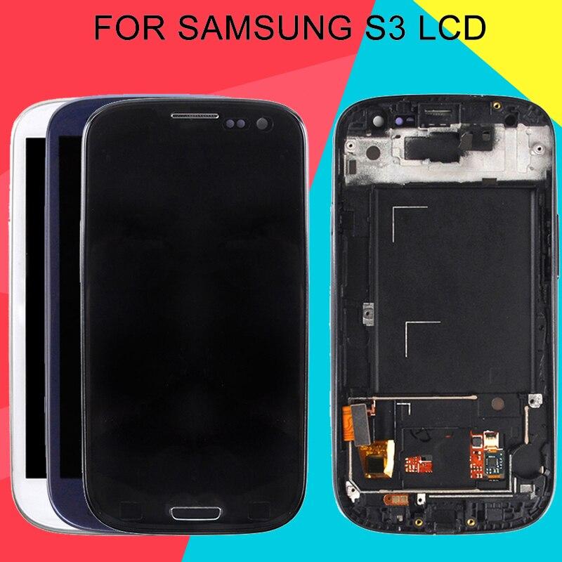 Pantalla Dinamico I9305 para Samsung Galaxy S3 pantalla Lcd y digitalizador táctil montaje I535 I747 I9300 Lcd con marco envío gratis