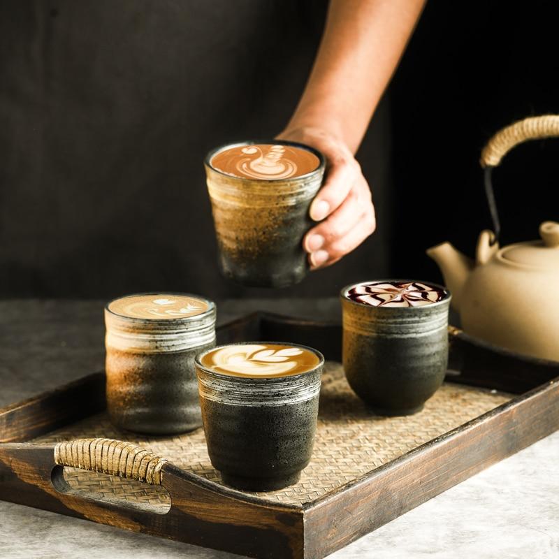 RUX WORKSHOP Japanese Style Teacup Water Cup Stoneware Ceramic Hand-painted Kungfu Teacup Cuisine Drinkware