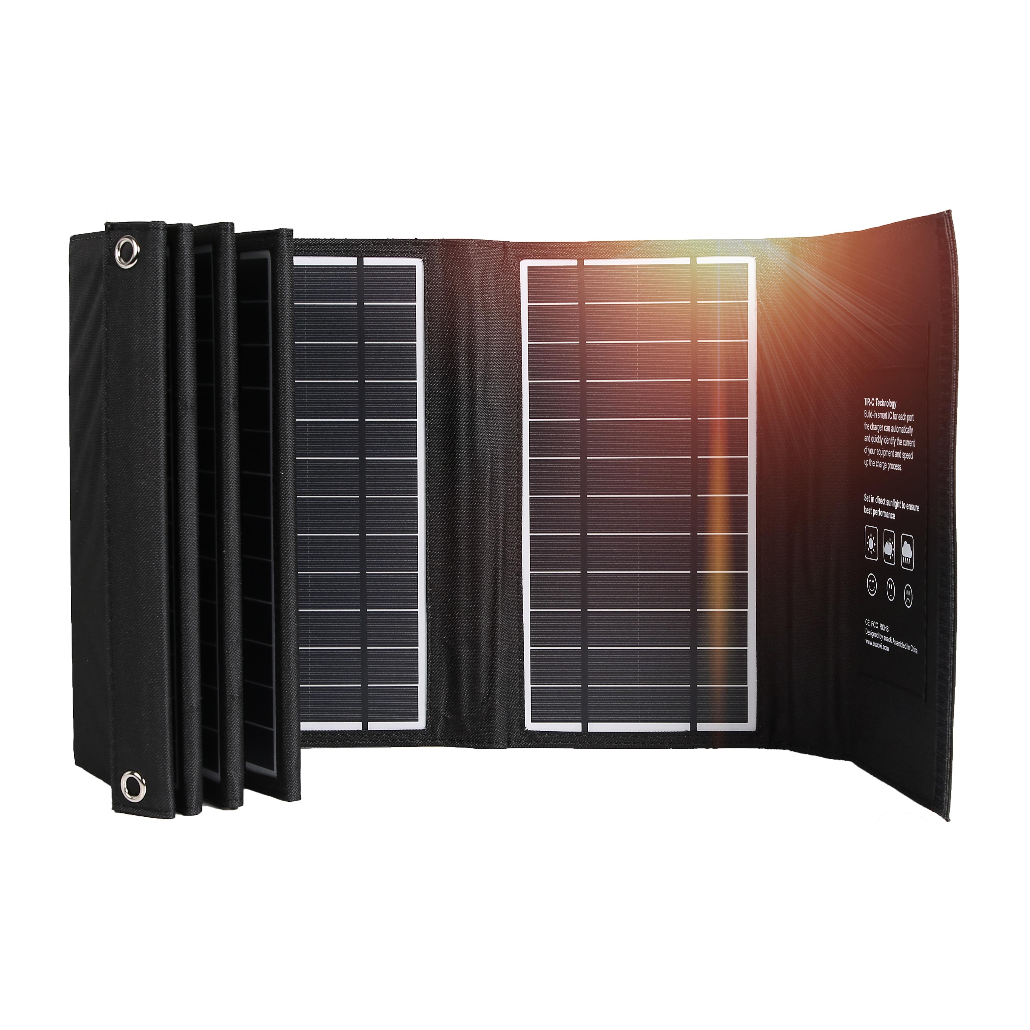 بطانية شمسية قابلة للطي 60 واط لوحة شاحن للتخييم في الهواء الطلق