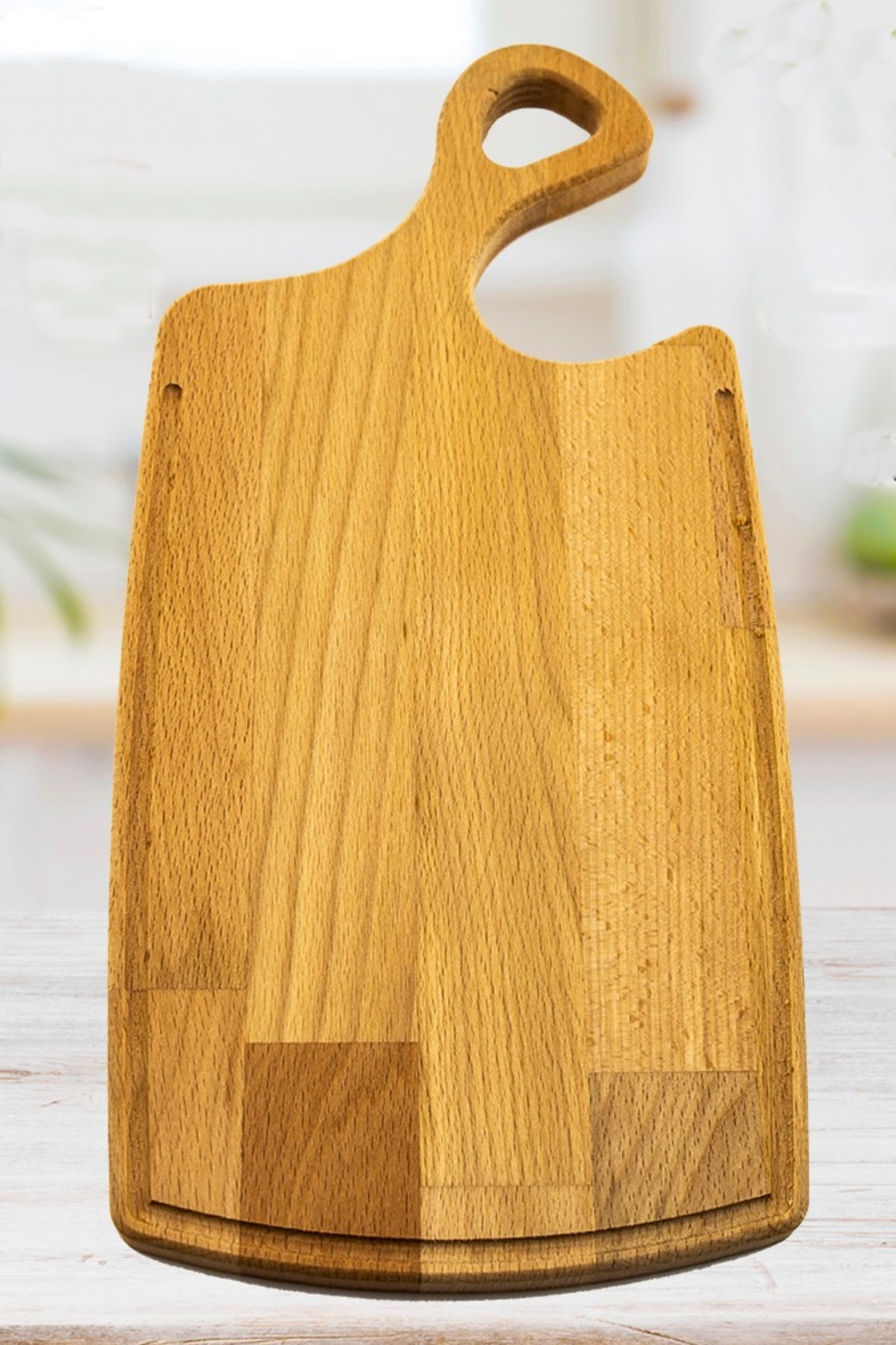 Multi-Use Cutting Board With Curved Handle Kitchen Hotel Elegance Food Salad Meat Free & Fast Shipping