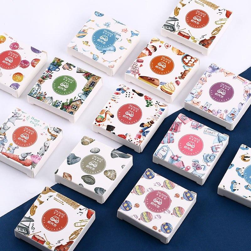 Lote de 45 unidades de pegatinas de papel Washi para diario, adhesivos de papelería decorativos para álbumes de recortes, etiquetas adhesivas para diario DIY