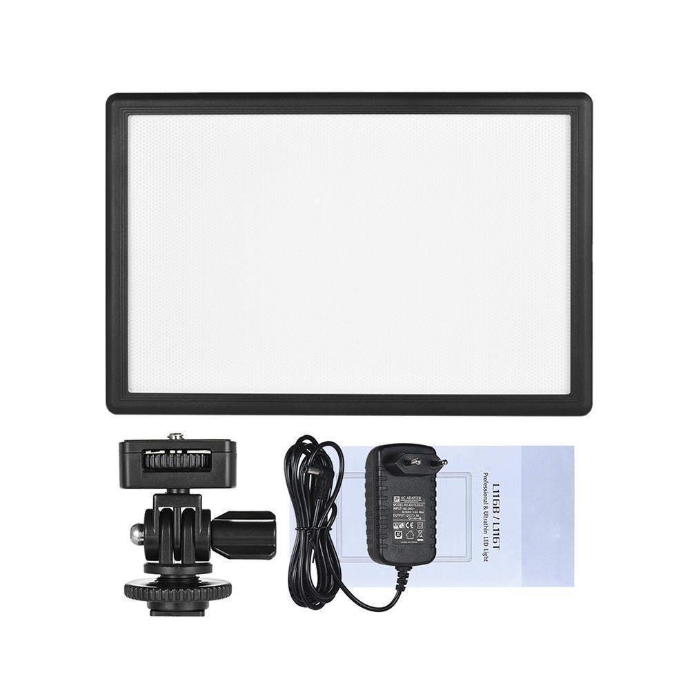 L116t luz da câmera photo studio luz fotografia iluminação led luz de vídeo + carregador para canon nikon câmera dv filmadora