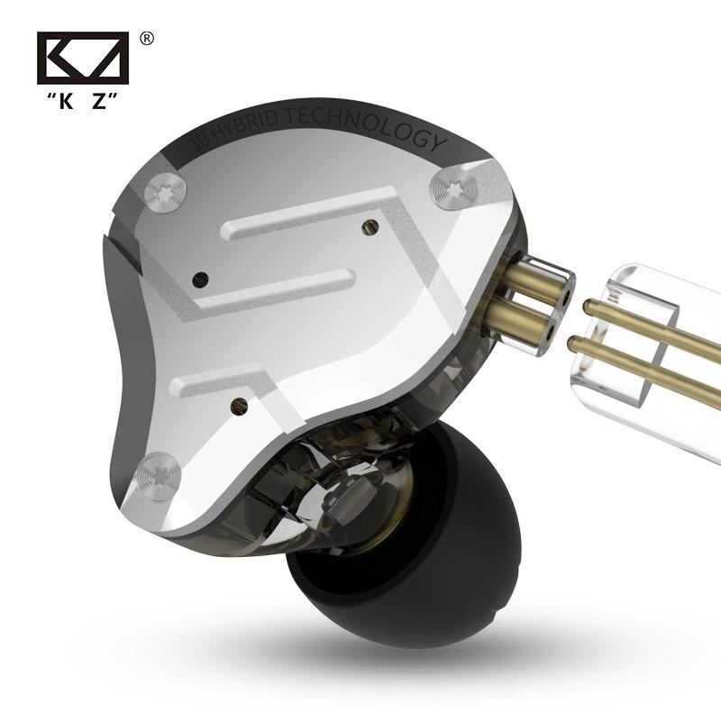 KZ ZS10 PRO 4BA 1DD HIFI Híbrido de Metal Fone de Ouvido In-ear Fone De Ouvido Esporte fone de ouvido Com Cancelamento de Ruído fone de Ouvido KZ ZSX ZSN ZST x AS16 V90 AS10 C12